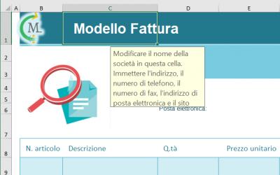 Creare e gestire Fatture in Excel