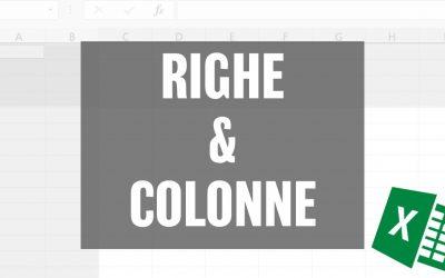 Excel: Righe e Colonne