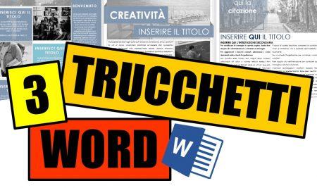 Tre Trucchi Word: Ripristina documenti | Ricerca Intelligente | Appunti Incolla Tutto